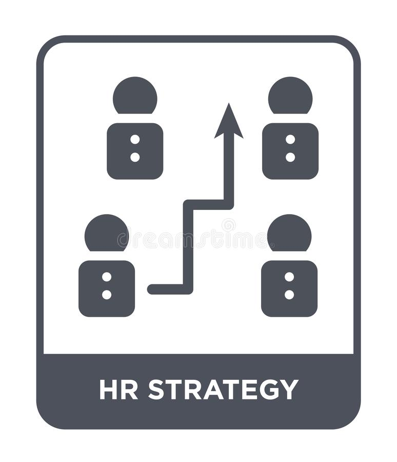 Hr strategy icon in trendy design style. hr strategy icon isolated on white background. hr strategy vector icon simple and modern. Flat symbol for web site vector illustration