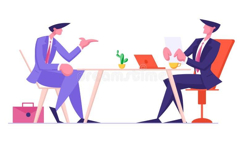 Hr Wydziałowego pracownika kandydata Czytelniczy życiorys dla wywiadu i pracy zatrudnienia negocjacja ilustracja wektor
