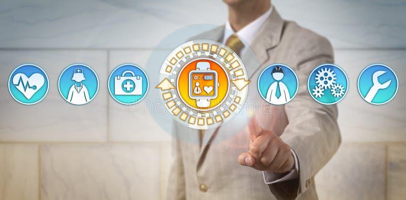 HR Wykonawczy Monitoruje tętno inżynier fotografia stock