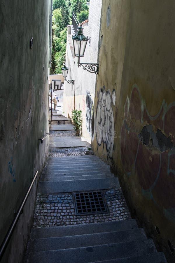 HradÄ , Prague, Tjeckien arkivfoton