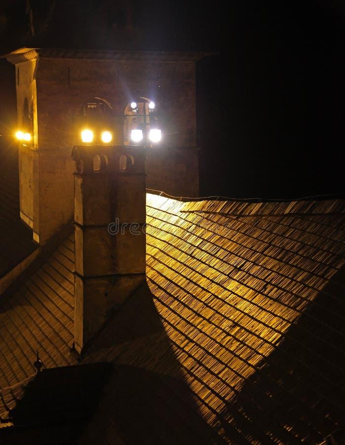 Hrad d'Oravsky - château d'Orava, Slovaquie photos stock