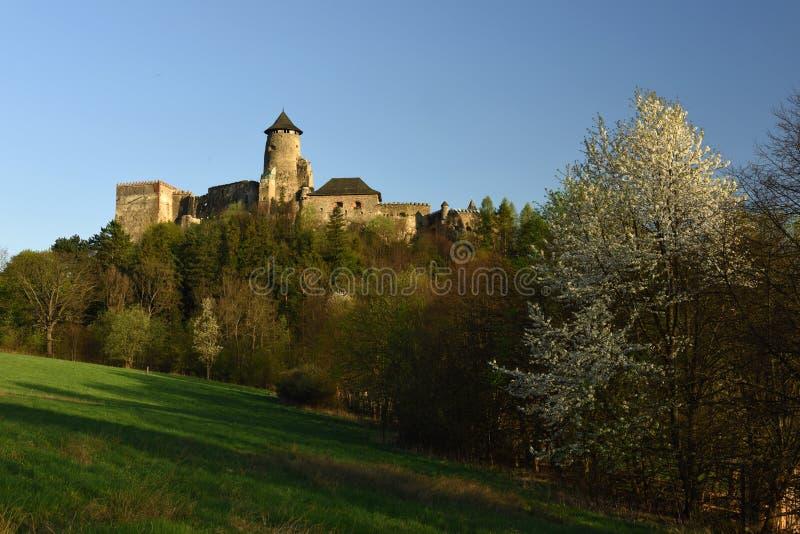 Hrad de Lubovniansky, região de Spis, Eslováquia imagem de stock