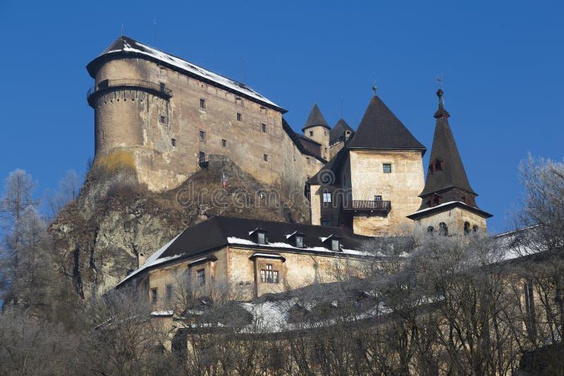 Hrad de Oravsky del castillo de Orava eslovaquia fotografía de archivo