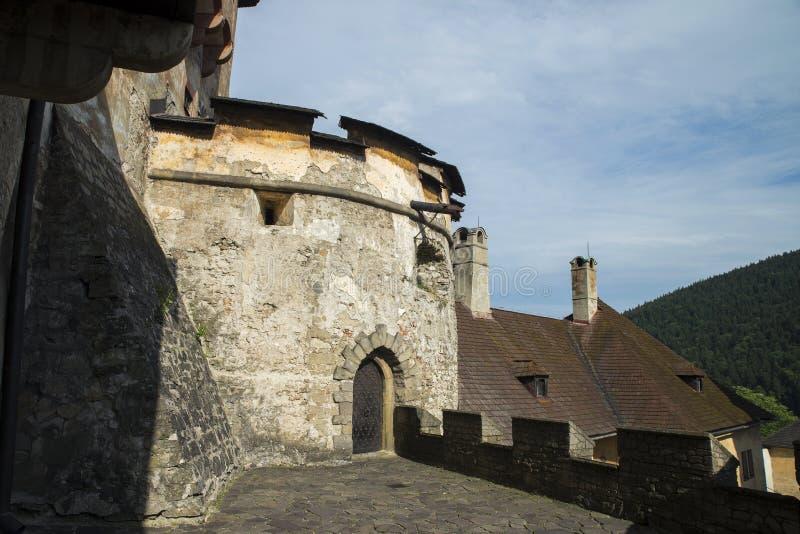 Hrad de Oravsky do castelo de Orava slovakia foto de stock royalty free