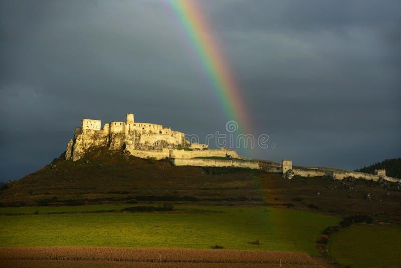 Hrad de Spissky, UNESCO, Eslováquia foto de stock royalty free
