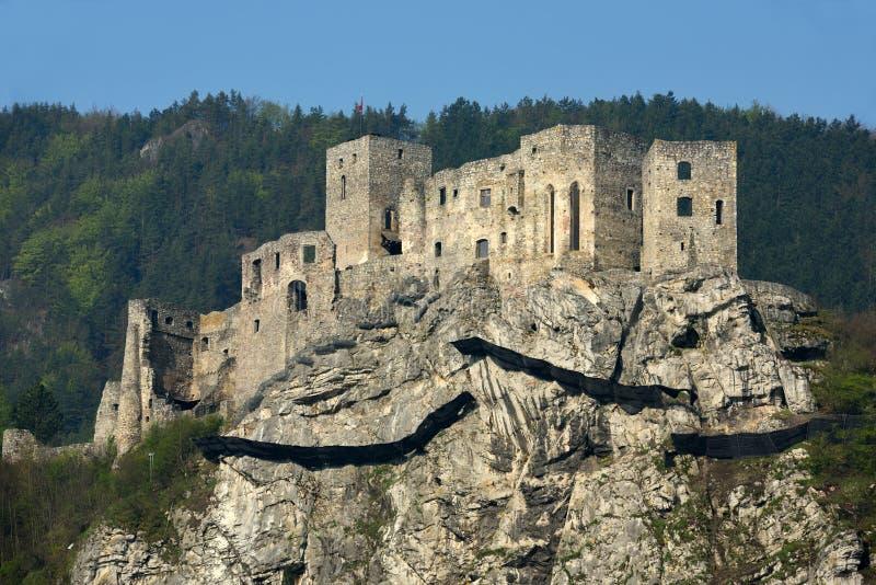Hrad de Strecniansky, Eslovaquia foto de archivo libre de regalías