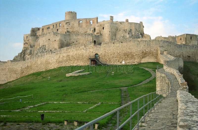 hrad spi spisky zamek obraz royalty free