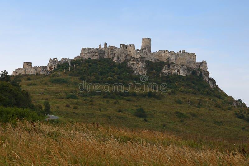 Hrad Spissky или руины замка Spis в Словакии стоковое изображение rf
