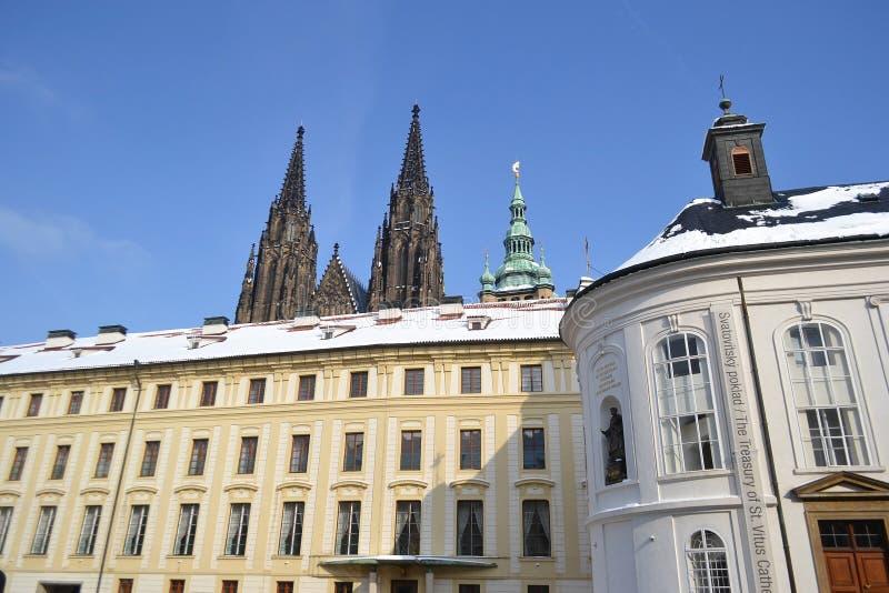 Hradcany -布拉格城堡在布拉格。 免版税图库摄影