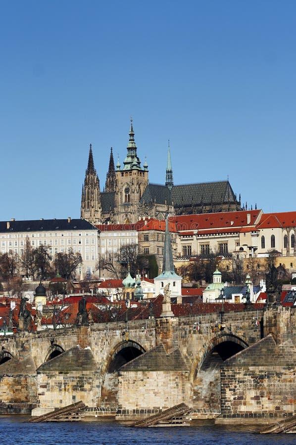 Hradcany - het kasteel van Praag stock fotografie