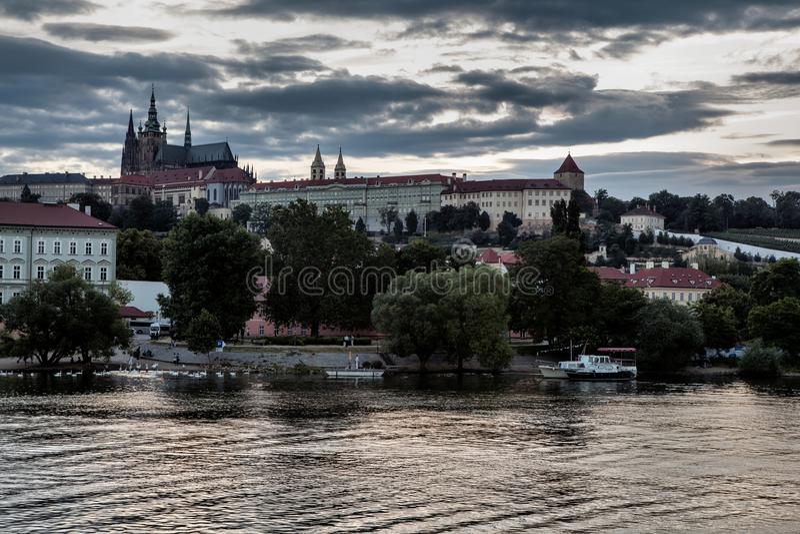 Hradcany a Praga fotografia stock