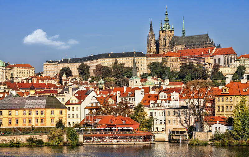 The Hradcany (Prague), Cathedral of St. Vitus. stock image