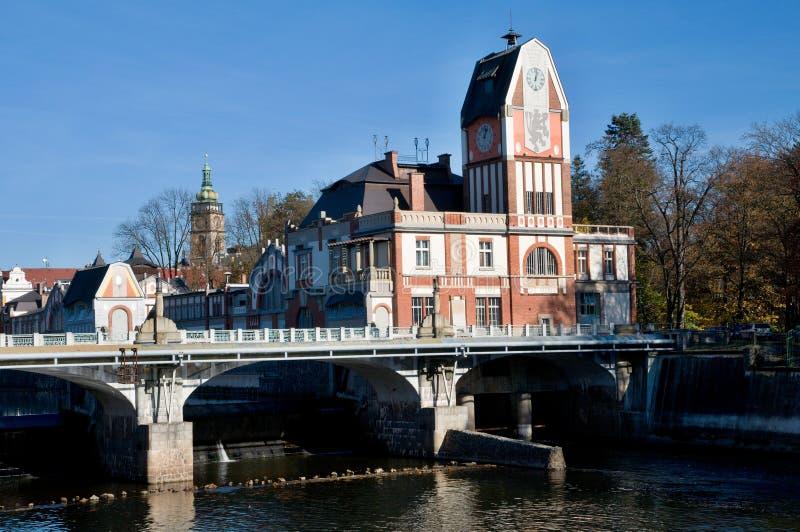 Hradec Kralove, Czech republic. Hydroelectric power station on the river Elbe in Hradec Kralove, Czech republic stock images
