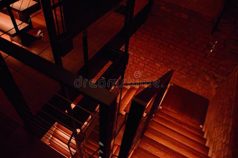 Hradec Kralove, Czech republic - November 17, 2018: stairway in Bila vez tower in day 29th anniversary of the Velvet Revolution stock photos