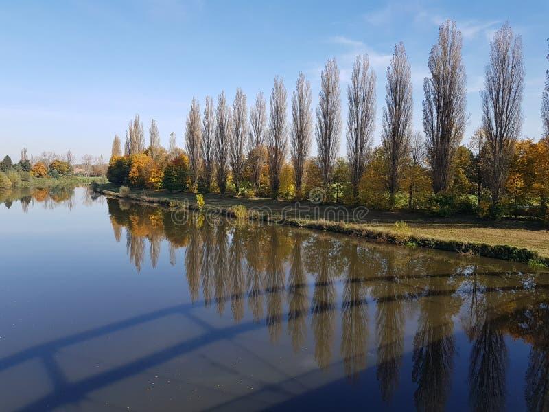 Hradec Kralove 2017. River Labe in Hradec Kralove, Czech Republic stock photos