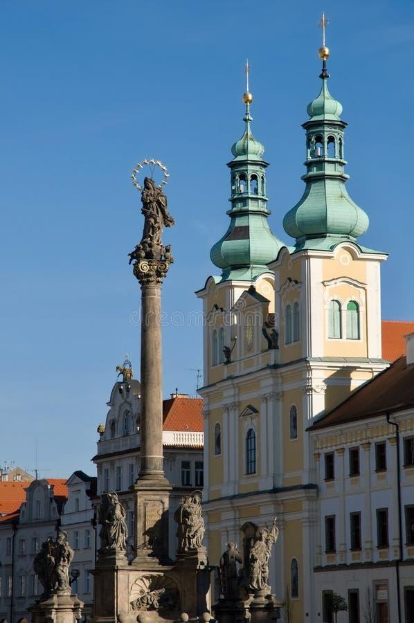 Hradec Kralove, Tjeckien arkivbilder