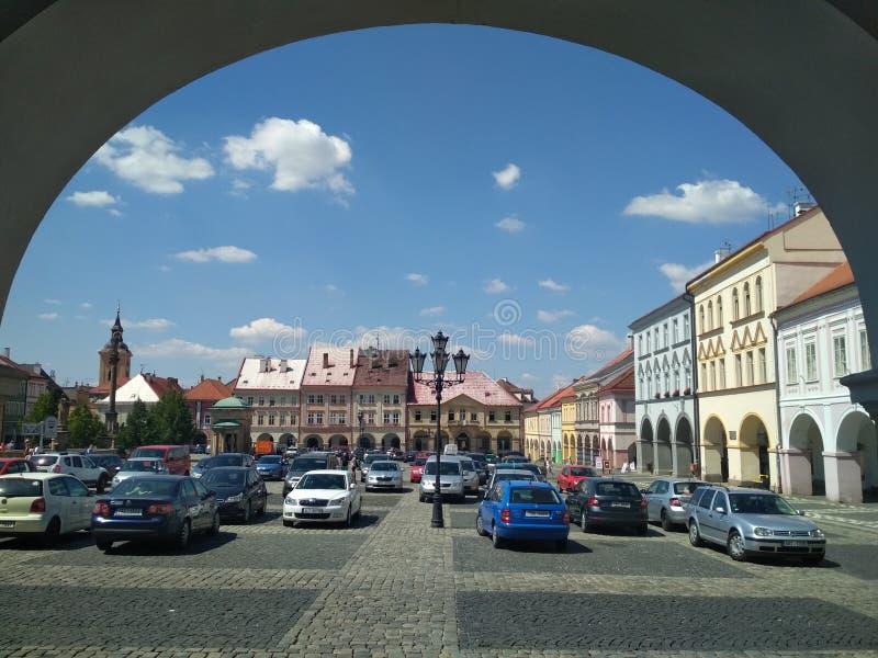 Hradec Kralove, Tsjechië - 25 september 2019: Hradec Kralove is een stad in Tsjechië royalty-vrije stock afbeelding