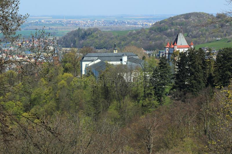Hradec nad Moravice and its countryside. Czech Republic royalty free stock photo