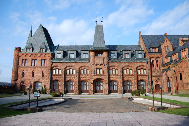 Hradec nad Moravici. Romantic castle Hradec nad Moravici stock images