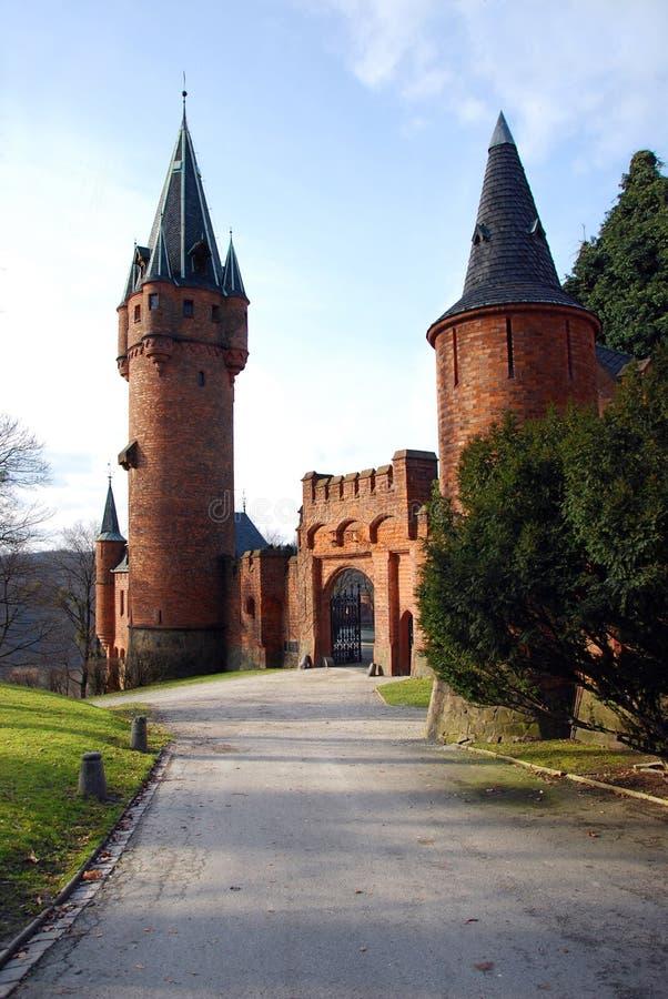 Hradec nad Moravici. Romantic castle Hradec nad Moravici stock photos