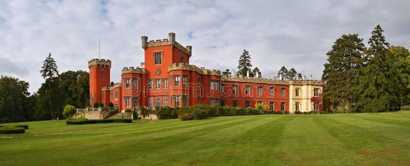 Hradek u Nechanic chateau royaltyfria foton