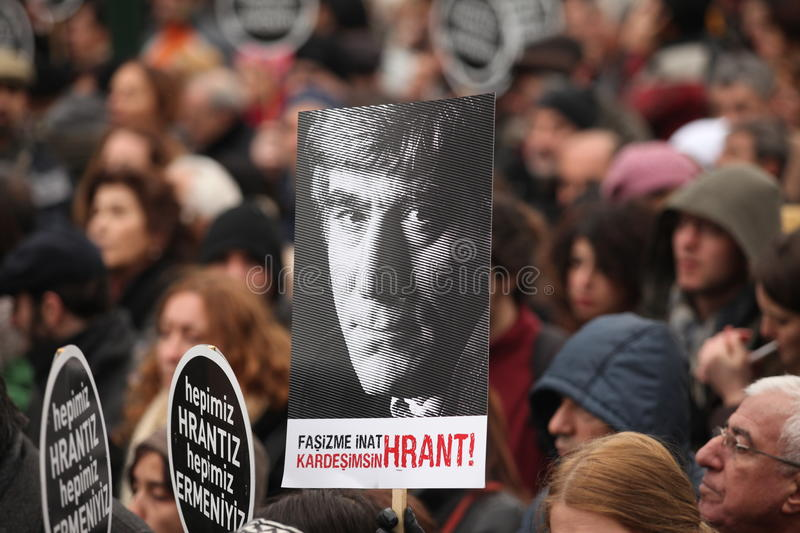 Download Hrant editorial image. Image of istanbul, placard, journalist - 22933585
