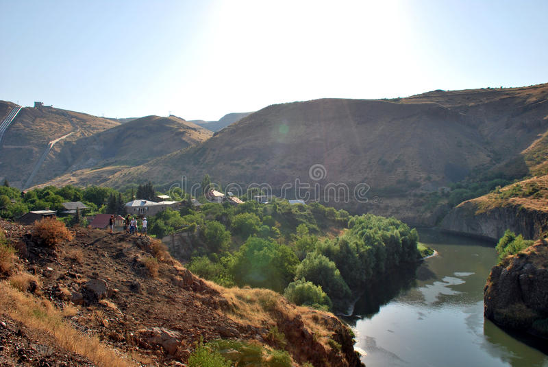 Hrazdan River in Argel, Armenia stock photos