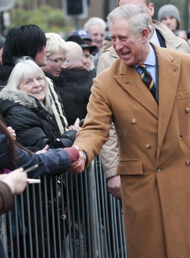HRH, das der Prinz von Wales zuerst nach Barnsley besuchen stockfoto