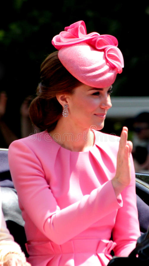 HRH The Duchess de Cambridge images libres de droits