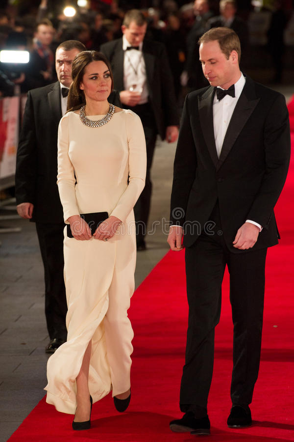 HRH-prins William och prinsessa Katherine royaltyfri bild