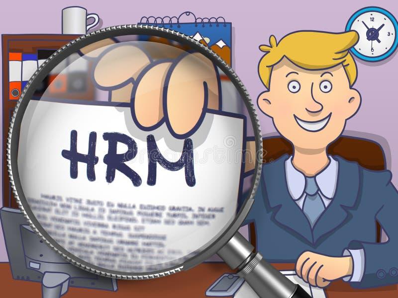 HRM door Lens Krabbelconcept vector illustratie