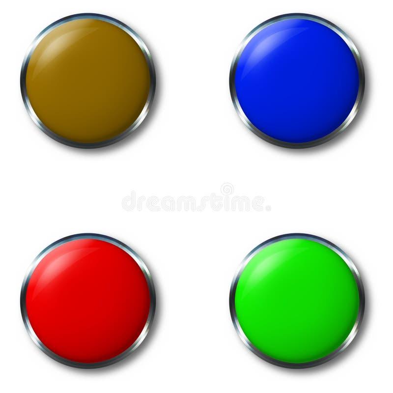 Hrome button stock illustration