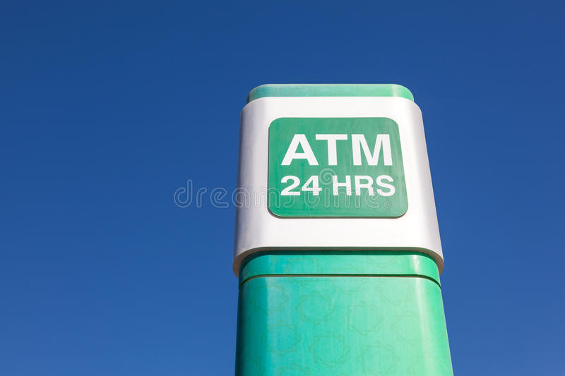 24 hrs ATM of the Kuwait Finance House. MANAMA, BAHRAIN - NOV 15: The 24 hrs ATM of the Kuwait Finance House bank in Manama city. November 15, 2015 in Manama stock images