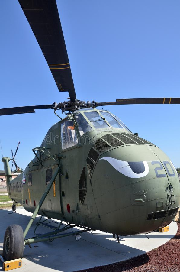 HRS-3 H-19 Chickasaw display inside Flying Leatherneck Aviation Museum in San Diego, California. SAN DIEGO, USA- JULY 1, 2019: HRS-3 H-19 Chickasaw display stock images