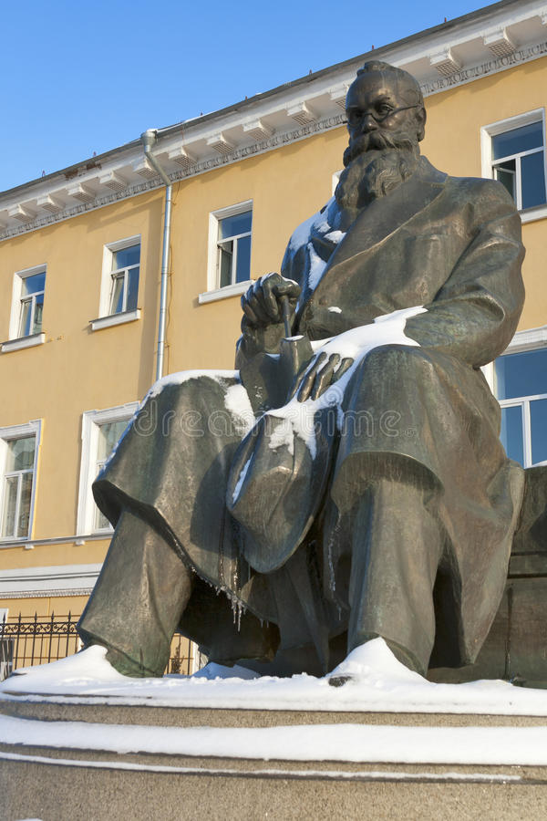Hrushevsky monument in Kiev, Ukraine. stock photo