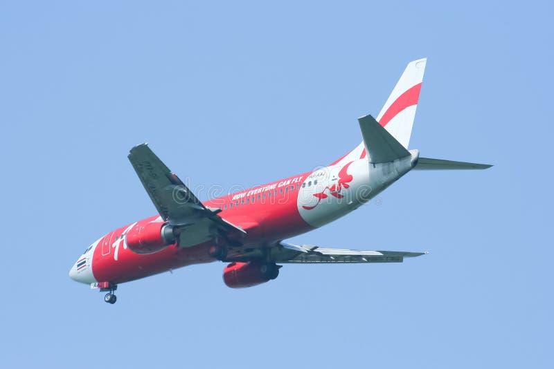 Hs-AAJ Boeing 737-300 van Thaiairasia royalty-vrije stock foto's