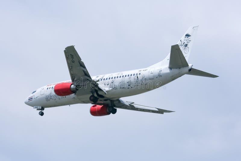 Hs-AAP Boeing 737-300 van Thaiairasia royalty-vrije stock afbeelding