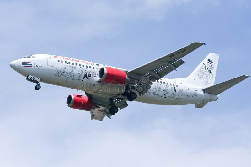 Hs-AAP Boeing 737-300 van Thaiairasia royalty-vrije stock afbeeldingen