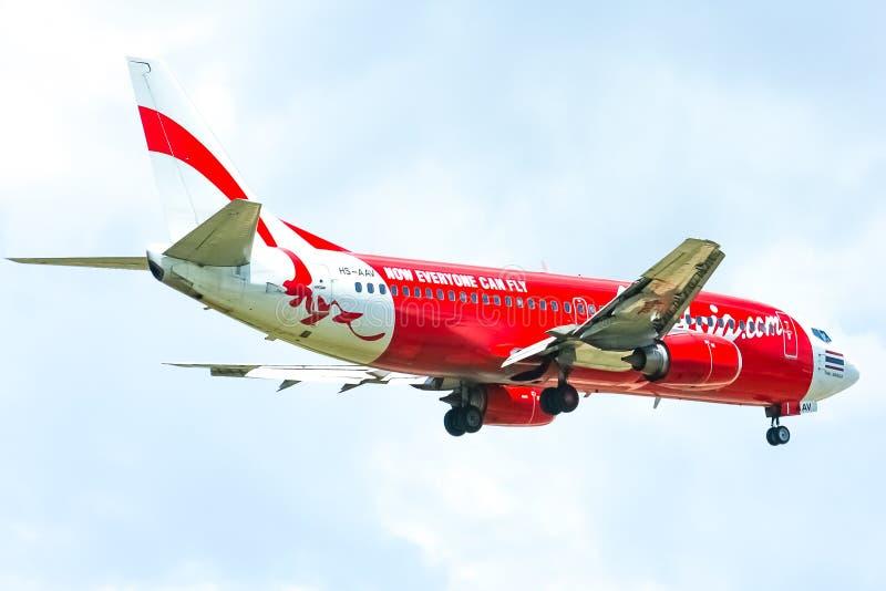 HS-AAV Боинг 737-300 Thaiairasia стоковая фотография