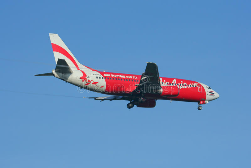 HS-AAV Боинг 737-300 Thaiairasia стоковая фотография rf