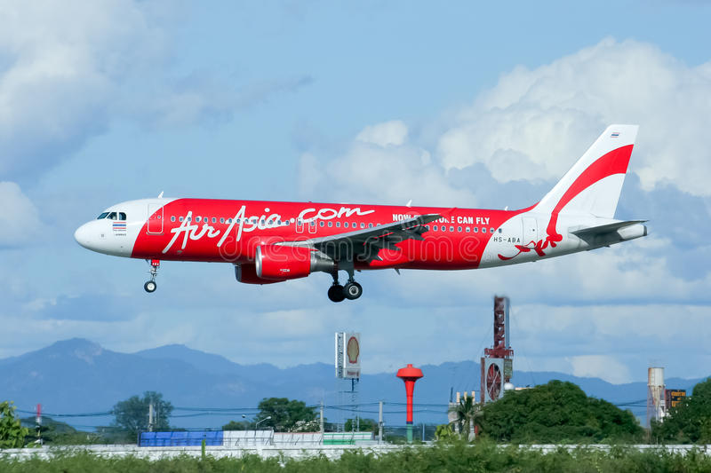 HS-ABA Airbus A320-200 of Thaiairasia royalty free stock images