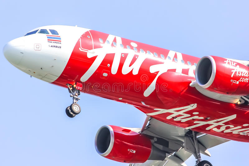 HS-ABS Airbus A320-200 of Thaiairasia. royalty free stock photography