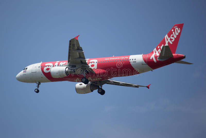 HS-BBB Airbus A320-200 de Air Asia tailandês foto de stock