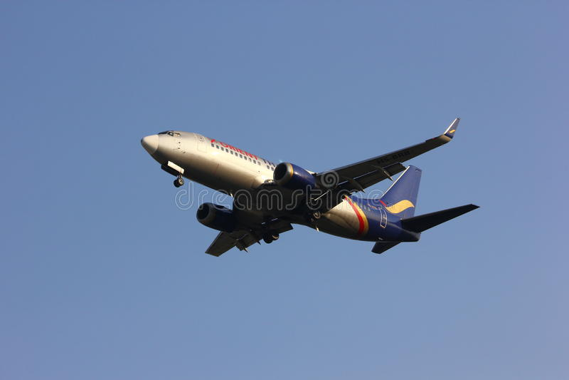 HS-BRB Boeing 737-300 de Orient Thai Airlines imagen de archivo libre de regalías