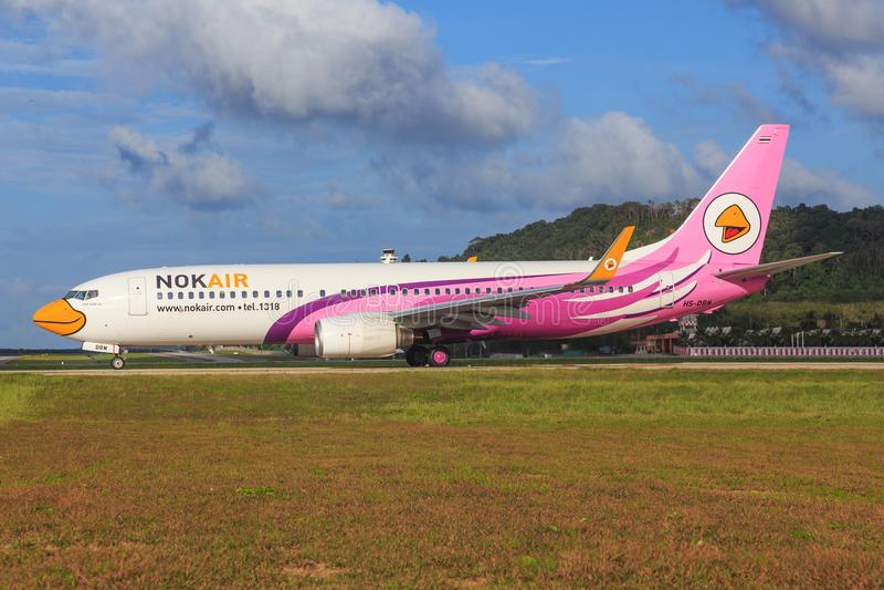 HS-DBC Боинг 737-800 NokAir стоковая фотография