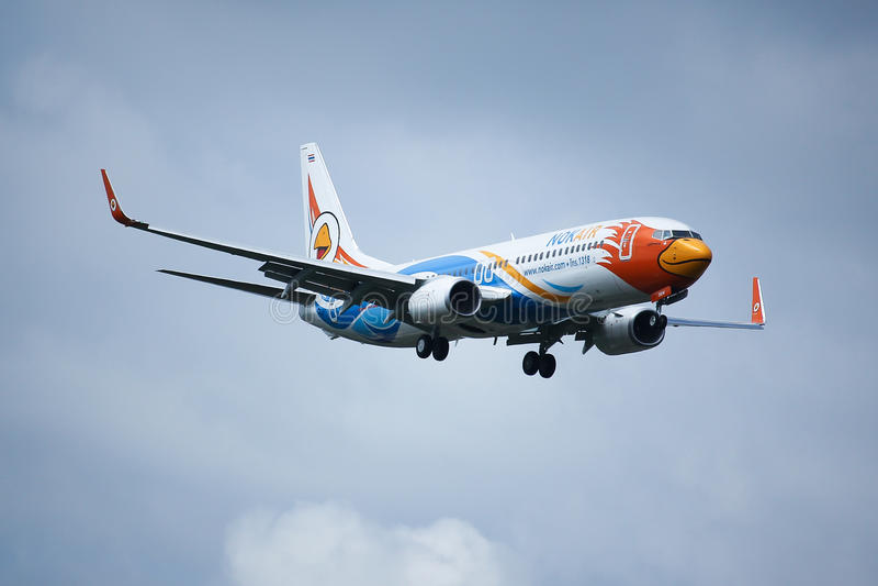HS-DBW Boeing 737-800 NokAir zdjęcie royalty free