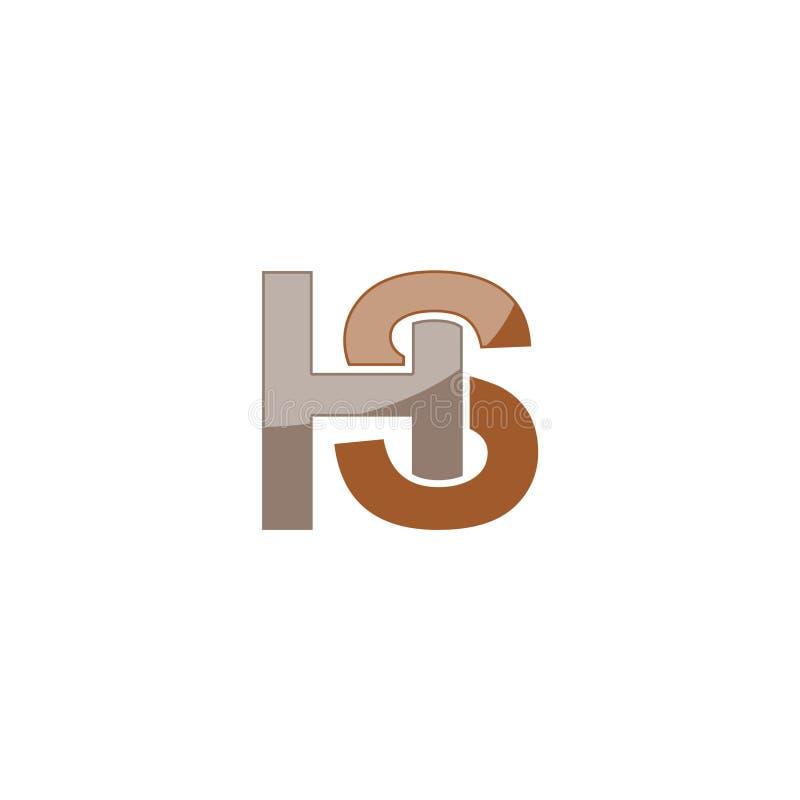 HS H S Logo Design, Creative Icon Text Letter stock illustration