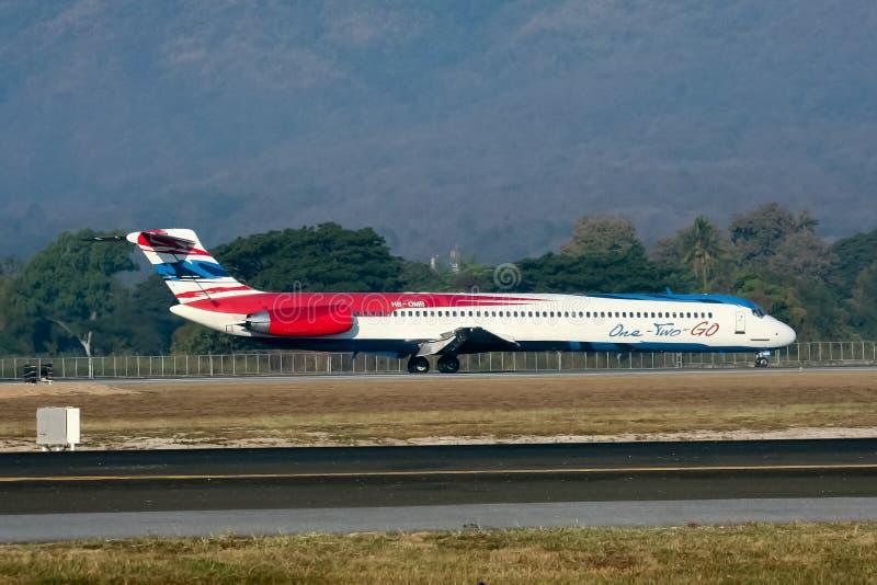 HS-OMB MD-82 του ενός δύο πηγαίνουν αερογραμμή στοκ εικόνα