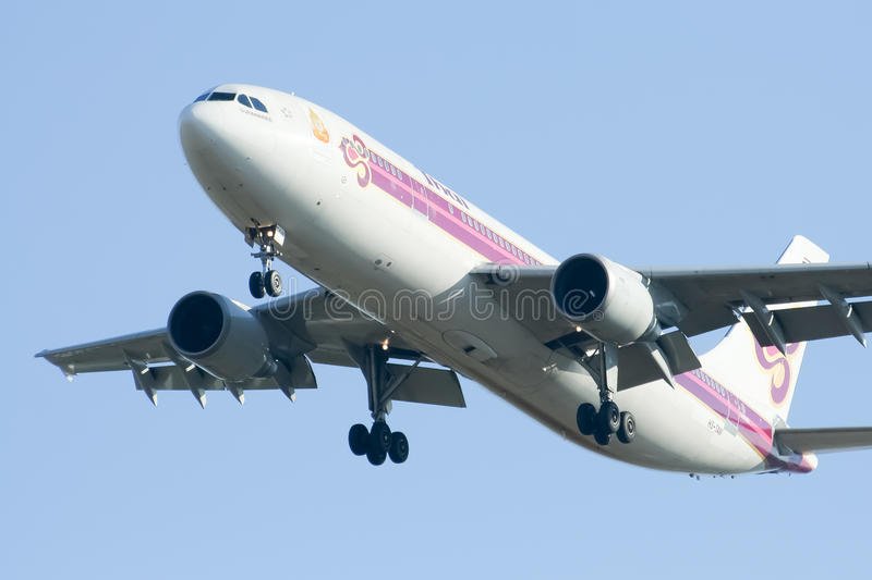 HS-TAW Airbus A300-600R of Thaiairway stock photo