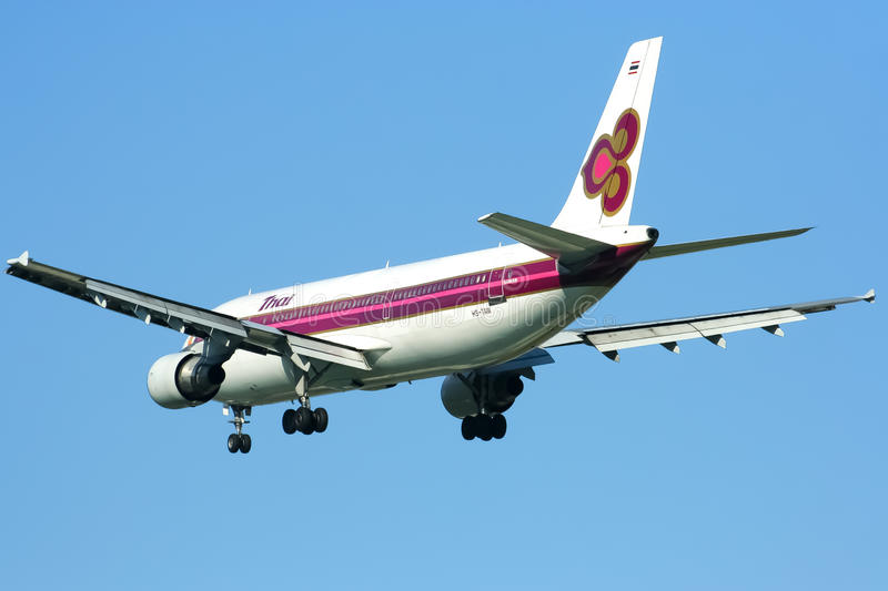 Download HS-TAW Airbus A300-600R Of Thaiairway Editorial Stock Image - Image: 38913214